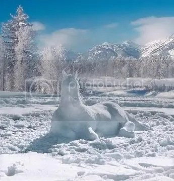 This is one of my favorite pictures of a snow sculpture. Ive seen it reproduced many times on the Web without attribution. I found one reference to Ray Keller. If he is the photographer or sculptor, all I can say is this is beautiful!