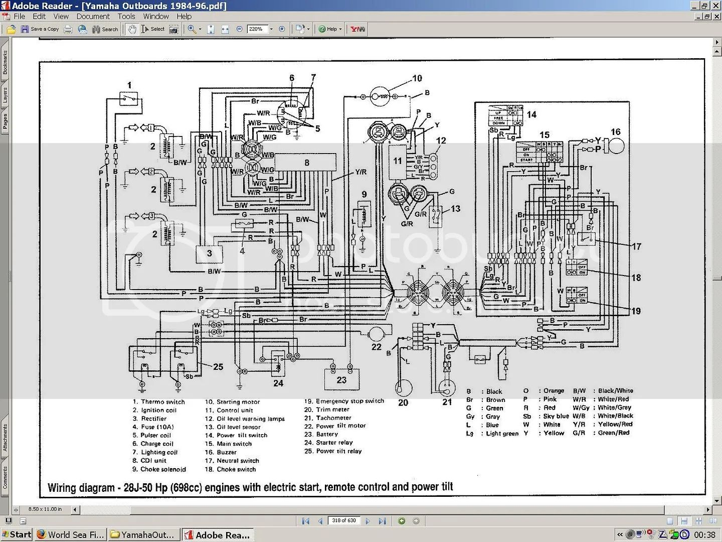 yamaha control box wiring diagram picture