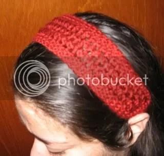 action shot of Bobbi's headband christmas 2007