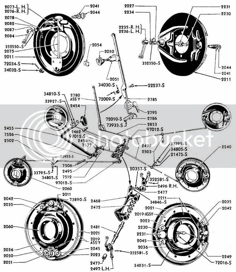 1932 1933 1934 Ford Passenger Car Brake Part Illustrated