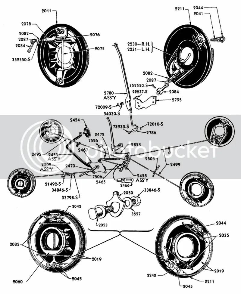1935 1936 Ford Passenger Car Brake Part Illustrated