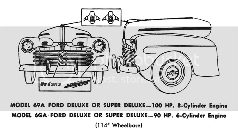 1946 Ford Passenger Car Identification, Flathead V8, 100