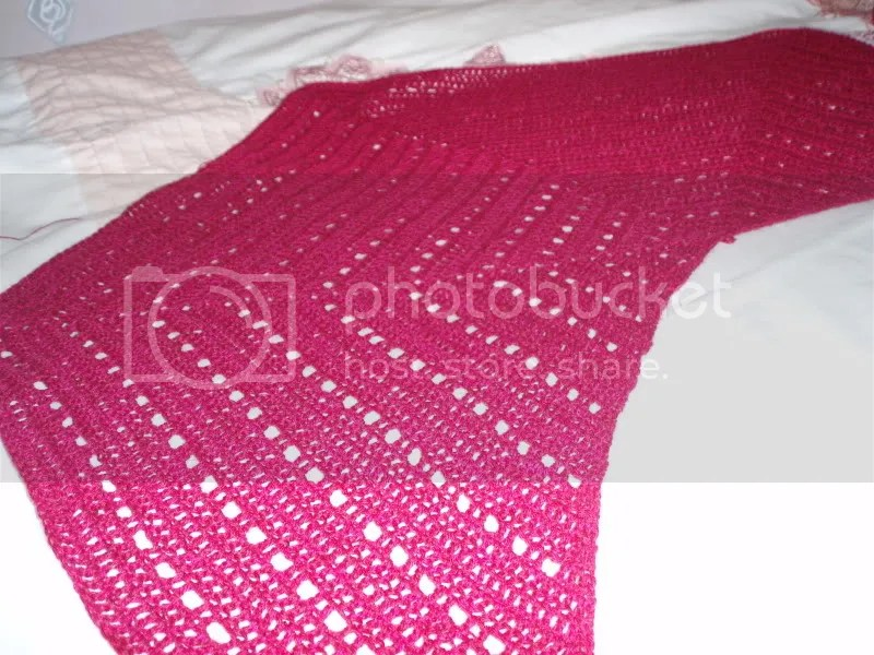 Raspberry Lacy Shawl