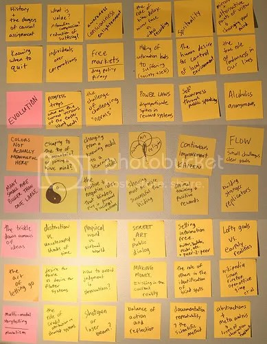 an exercise in ideas on post it notes - Inha Leex Hale
