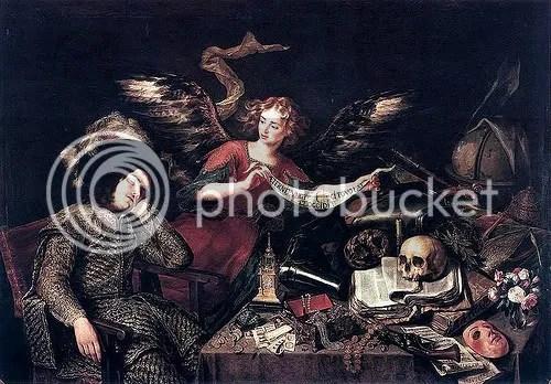Pereda y Salgado, Antonio de (1611-1678) - 1655 The Knight's Dream (Royal Academy of Fine Arts of San Fernando, Madrid)