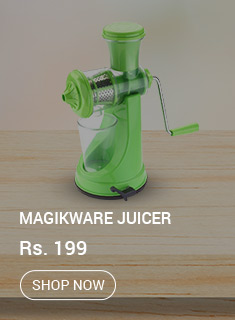 Buy Magikware Green Plastic Fruit & Vegetable Juicer with Steel Handle At Rs 199 Only @ Snapdeal