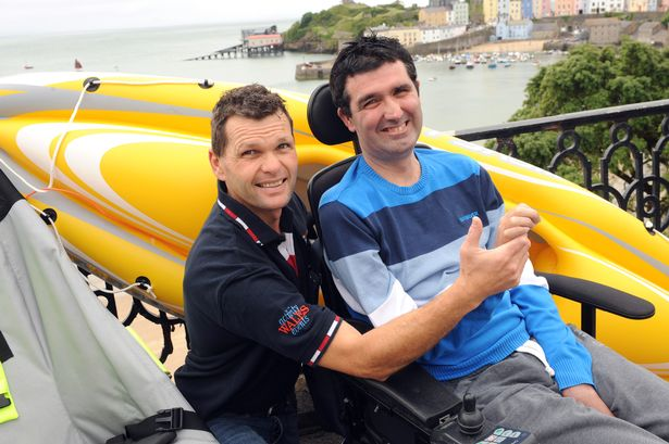Gareth Scotcher and Nicky Rees prepare for the Long Course weekend in Tenby