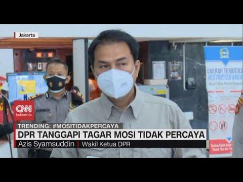 DPR Tanggapi Tagar Mosi Tidak Percaya
