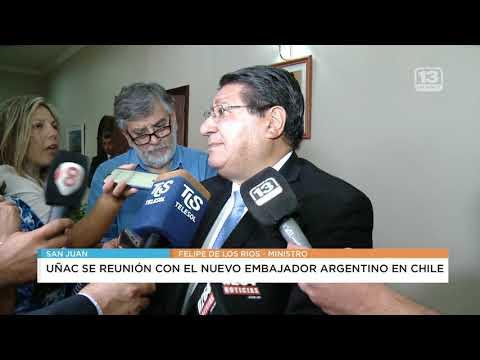 El embajador Bielsa llegó a la provincia y se reunió con Uñac