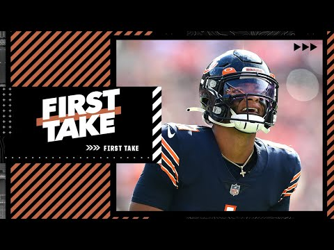 Stephen A. reacts to Justin Fields' 1st start: 'This isn't his fault' | First Take