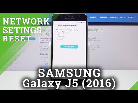 How to Restore Network Settings in SAMSUNG GALAXY J5 (2016) - Restore Network Settings