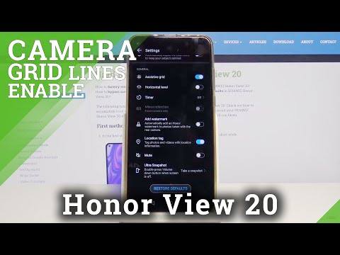 How to Activate Camera Gridlines in Honor View 20 – Camera Settings