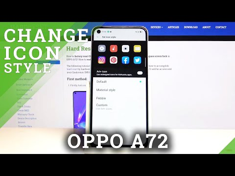 How to Change Icon Style in Oppo A72 - Personalize Icon Shape