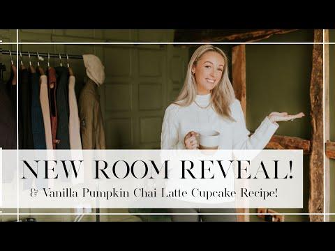 NEW ROOM REVEAL + VANILLA PUMPKIN CHAI LATTE CUPCAKE BAKING // Fashion Mumblr
