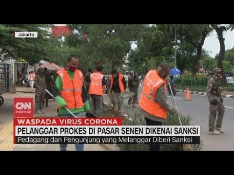 Pelanggar Prokes di Pasar Senen Dikenai Sanksi