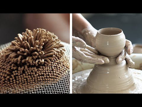 Relaxing ASMR POTTERY ART: mesmerizing clay and ceramic masterpieces