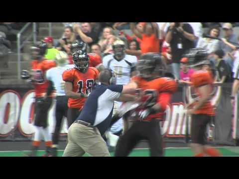 Lincoln Haymakers Coach Hits Opposing Omaha Beef Player.