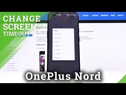 How to Change Screen Timeout in OnePlus Nord – Display Settings