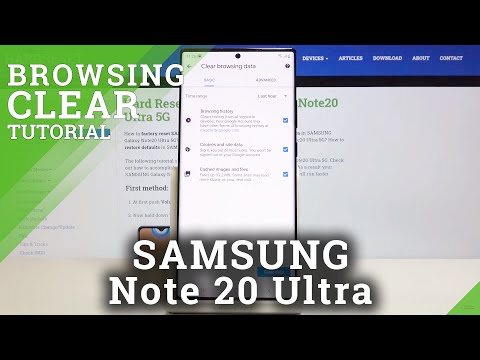 How to Clear Browsing Data in SAMSUNG Galaxy Note 20 Ultra – Delete Browsing History