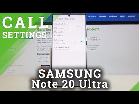 How to Show & Hide Caller ID in SAMSUNG Galaxy Note 20 Ultra – Call Settings
