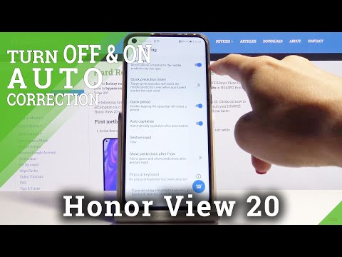 How to Turn on Auto Correction on Honor View 20 – Text Settings