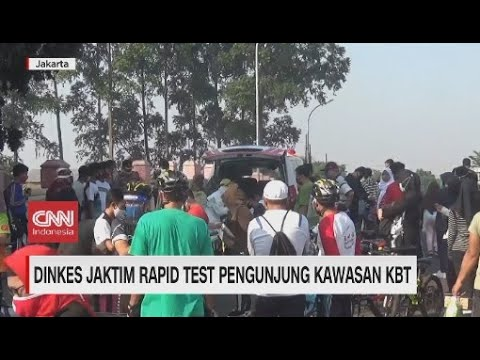 Mendadak! Dinkes Jaktim Rapid Test Pengunjung KBT
