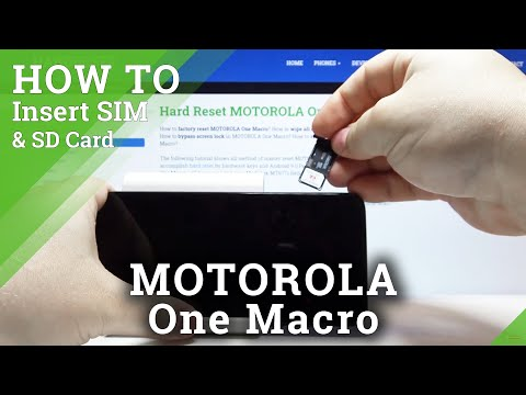 How to Insert Nano SIM and MICRO SD Cards to MOTOROLA One Macro – Input Nano SIM and MICRO SD Cards