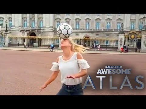 Freestyle Footballing in London with Aguska Mnich | People Are Awesome | Atlas