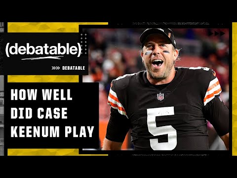 Did the Browns look just as good with Case Keenum? | (debatable)