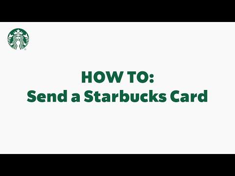 Starbucks App Basics: How To Send a Starbucks Card (StarbucksCare)