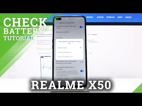 How to Enable Battery Percentage in REALME X50 5G – Show Battery Level