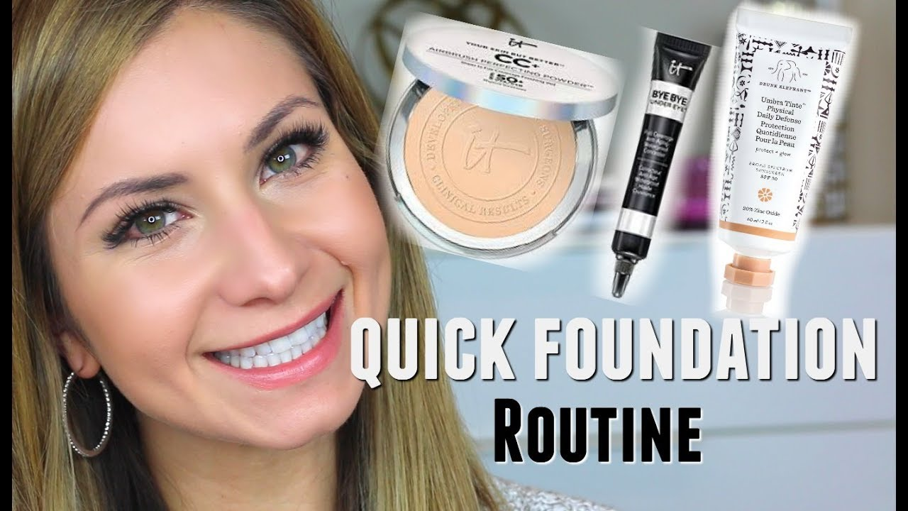 My Quick Powder Foundation Routine SPF 50 & How I Apply IT ...