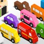 Colors For Children To Learn With Wooden Street Vehicles
