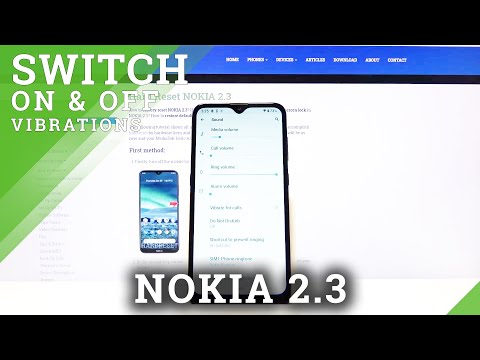 How to Turn On / Off Vibrations on Nokia 2.3 - Vibration Settings