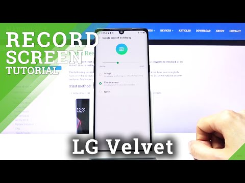 How to Record Screen in LG Velvet – Capture Screen Actions