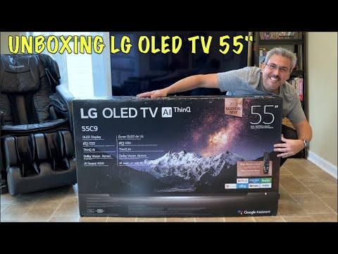 "UNBOXING LG OLED TV C9 55"""