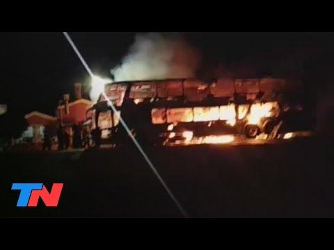 Un micro se incendió en la Ruta 34, la indignación de los pasajeros