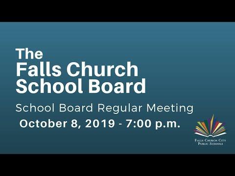School Board Meeting October 8, 2019