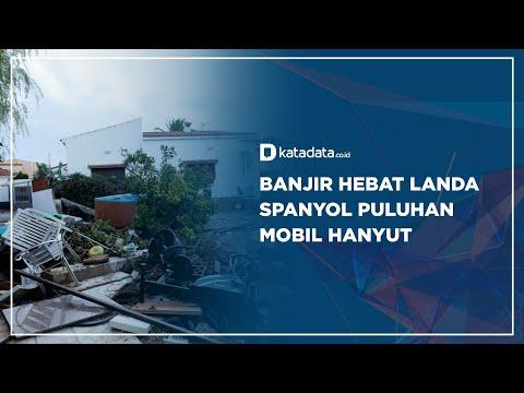 Banjir Hebat Landa  Spanyol Puluhan  Mobil Hanyut | Katadata Indonesia