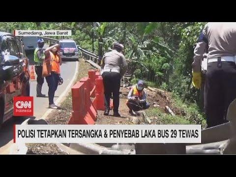 Polisi Tetapkan Tersangka & Penyebab Laka Bus 29 Tewas