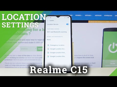 How to Turn On Device's Location in REALME C15 – Find Location Settings
