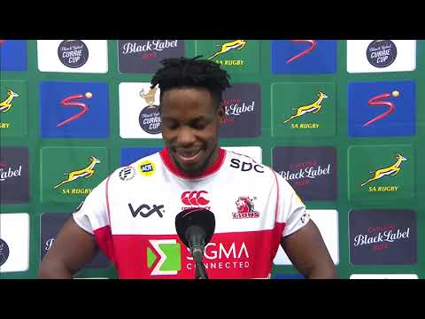 Currie Cup Premier Division | Cheetahs v Lions | Post match interview with Rabz Maxwane