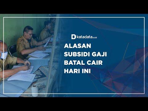 Alasan Subsidi Gaji Batal Cair Hari Ini | Katadata Indonesia