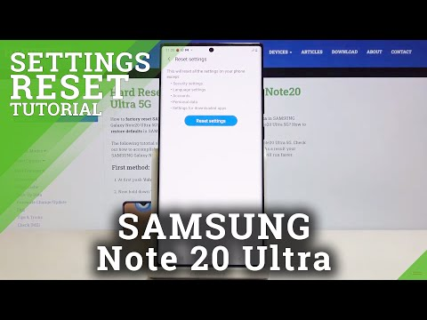 How to Reset Settings in SAMSUNG Galaxy Note 20 Ultra – Restore Manufacturer Config