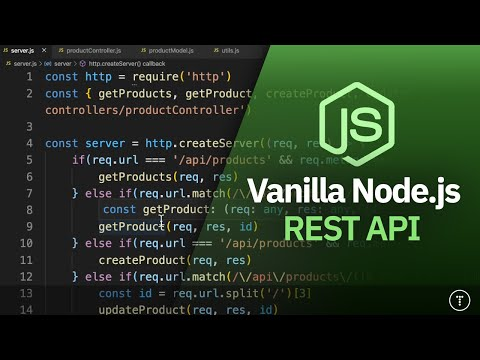 Vanilla Node.js REST API   No Framework