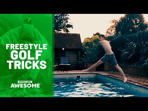 35 Surprising Golf Trick Shots | People Are Awesome