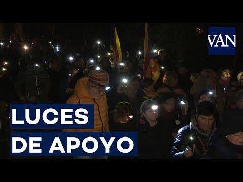 Acto de apoyo a la huelga de hambre de Sànchez y Turull frente a la cárcel de Lledoners