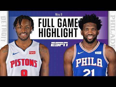 Detroit Pistons vs. Philadelphia 76ers   Full Game Highlights