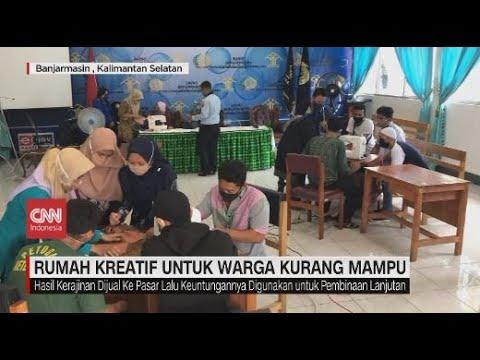 Rumah Kreatif untuk Warga Kurang Mampu di Banjarmasin