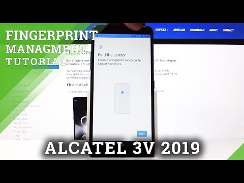 How to Add Fingerprint in ALCATEL 3V 2019 – Enable Fingerprint Lock
